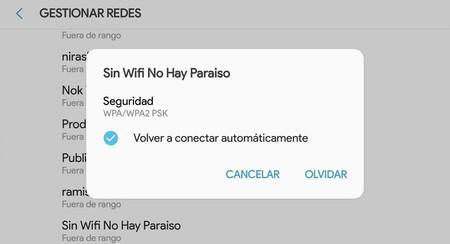 Cómo borrar las conexiones WiFi guardadas en tu Android
