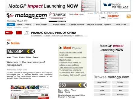 Nueva imagen para motogp.com
