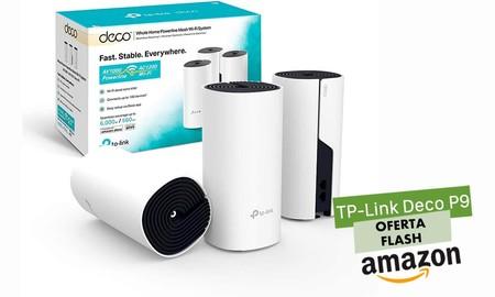 Oferta flash: ahorra casi 40 euros mejorando la WiFi de tu casa u oficina con el kit en malla TP-Link Deco P9 de 3 nodos por sólo 189,99 euros