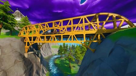 Desafío Fortnite: baila en un puente de acero verde, en un puente de acero amarillo y en un puente de acero rojo. Solución