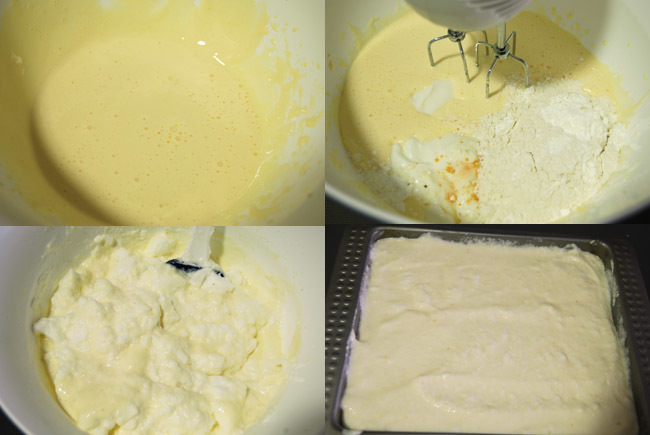 Pastel de yogur. Pasos