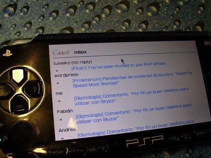 Gmail consultable desde la PSP
