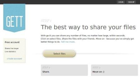 Ge.tt, un servicio para compartir archivos que no necesita registro