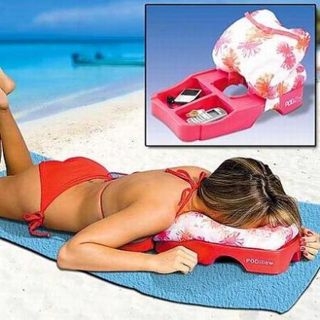PODillow, almohada con compartimento para tomar el sol