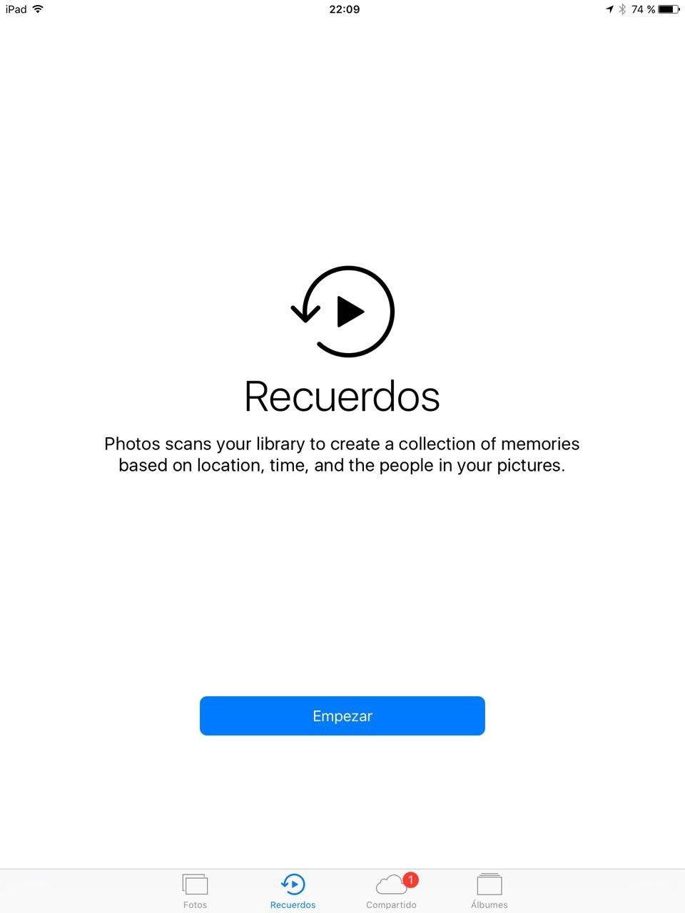 Foto de iOS 10 en iPad (16/26)
