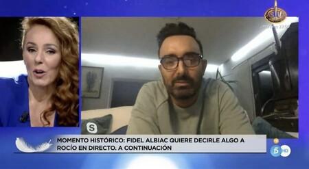 """Fidel Albiac aparece en Telecinco con un importante mensaje para su mujer, Rocío Carrasco: """"Me produce tanto dolor verla..."""""""