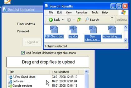 Google Docs Uploader, subiendo archivos desde el escritorio de Windows