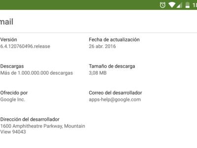 Google Play Store ahora te informa del tamaño de descarga de las actualizaciones
