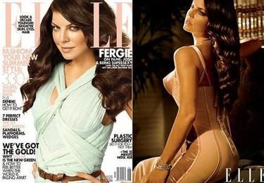 Fergie posa espléndida para Elle con un estilo muy años 60