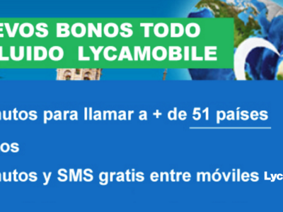 Lycamobile renueva su oferta de bonos con minutos internacionales incluidos a 51 países