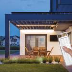 Este sistema permite automatizar la pérgola de casa para no sufrir las inclemencias del tiempo