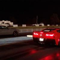 Vídeo: el Chevrolet Corvette ZR1 deja sentado en el cuarto de milla... ¡al Dodge Challenger SRT Demon!