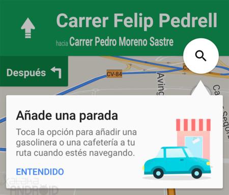 Cómo añadir una parada en tu ruta con Google Maps para Android mientras navegas hasta tu destino