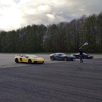 ¡A fondo! Huracán Performante, Aventador SV, 720S y 812 Superfast se enfrentan en una drag race de 2.910 CV