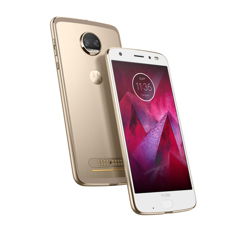 Moto Z2 Force Edition Front Back Fine Gold 1