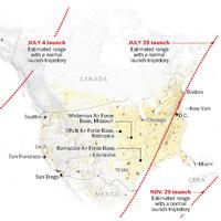 Los misiles de Corea del Norte podrían alcanzar a México, según The Washington Post