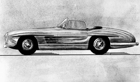 Mercedes-Benz 300 SL Roadster boceto