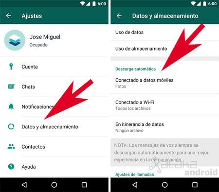 Descarga automática de WhatsApp