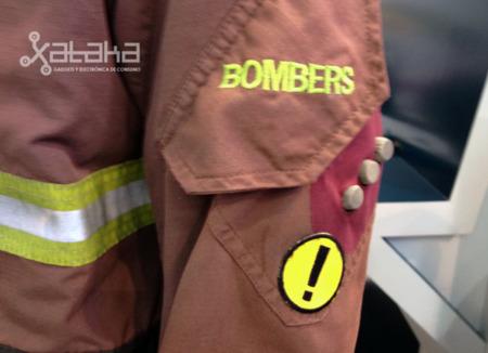 Traje de bomberos con sensores
