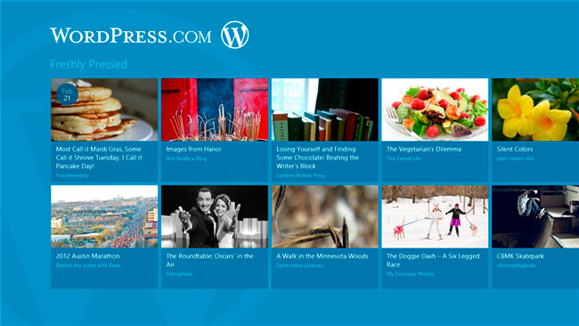 WordPress app Windows 8