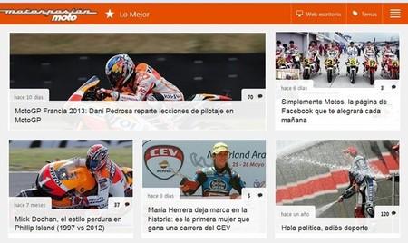 Motorpasion Moto versión tablet