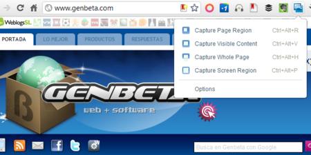 Screen Capture, extensión de Google para Chrome para realizar capturas de pantalla
