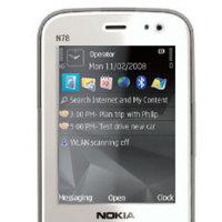 Nokia N78 en blanco