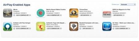 Colección de aplicaciones en la App Store que hacen uso de AirPlay