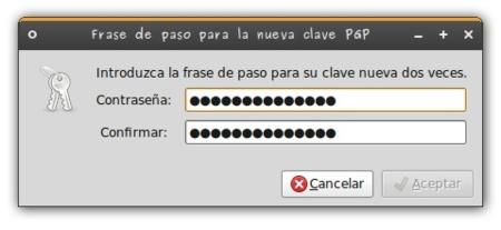 Cifrado Ubuntu - passphrase