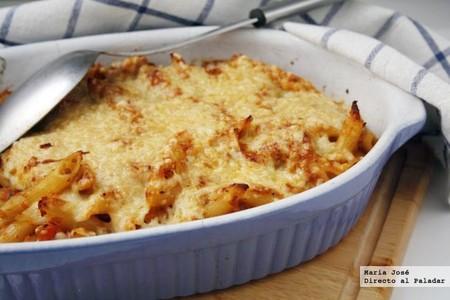 Macarrones gratinados con salsa boloñesa: receta con Thermomix