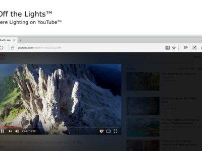 """La extensión para Edge de """"apagar las luces"""" aterriza en la Tienda de Windows"""