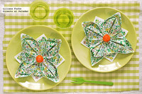 Un toque alegre en tu mesa. Cómo dar forma de flor a tus servilletas