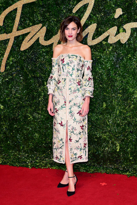 Alexa Chung British Fashion Awards 2015 Erdem 2