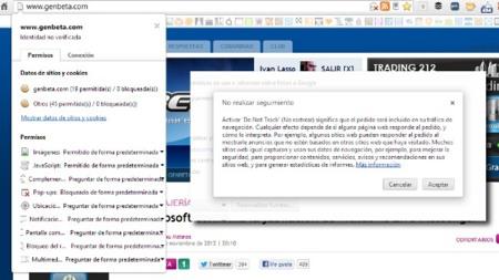 Chrome incorpora Do not track en su versión 23 junto con otras novedades
