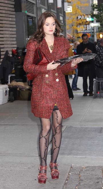 ¿Te atreves con las medias de flores de Blair Waldorf?
