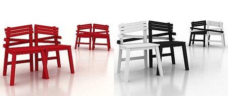 LAT Chair, sillas entrelazadas