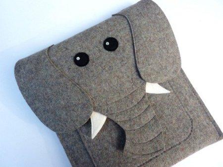Un elefante de fieltro protegerá tu iPad 2