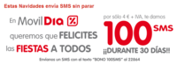 MóvilDía también tiene promoción de navidad, 100 SMS por cuatro euros
