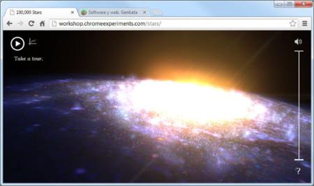 Visita 100.000 estrellas de la mano del Google Data Arts Team. La imagen de la semana