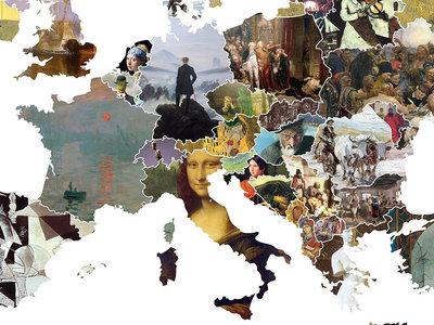 El mapa que te lleva de viaje por las pinturas más bonitas y emblemáticas de cada país de Europa