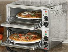 Horno doble para pizzas