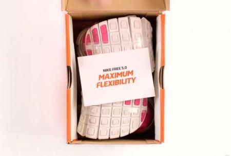 Una caja de zapatos minúscula para las Nike Free 5.0, las zapatillas más flexibles del mundo
