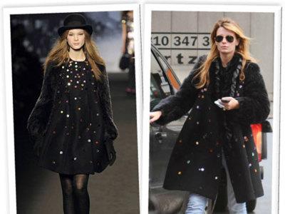 Mischa Barton y su abrigo de Sonia Rykiel