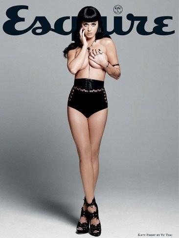 Tremenda Katy Perry en topless en la nueva portada de Esquire