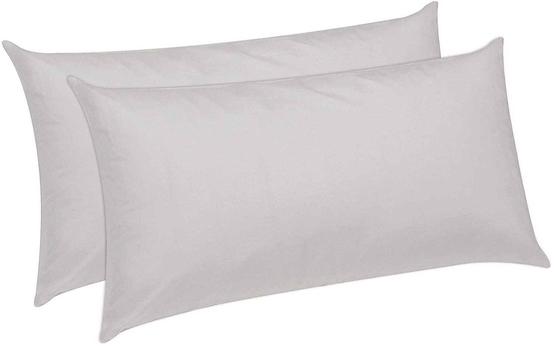 Pikolin Home - Pack de 2 almohadas de fibra con tratamiento dermoprotector Aloe Vera de firmeza baja recomendada para dormir boca abajo
