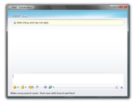 Conversacion en WLM9