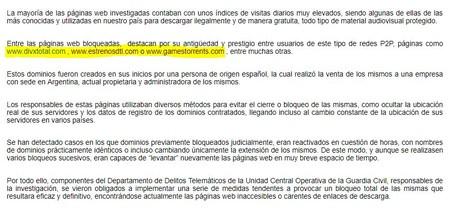 Webs Descargas Bloqueadas Guardia Civil