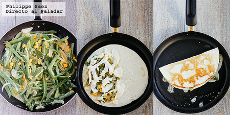Quesadillas Rajas Crema Queso