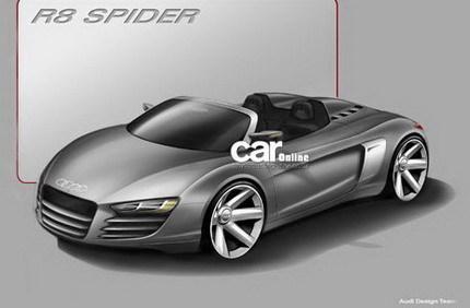 Boceto oficial del Audi R8 Spider