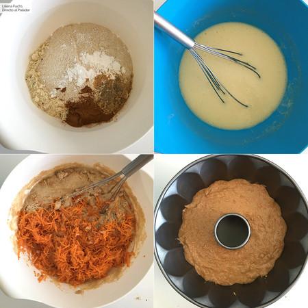 Bizcocho de Zanahoria y Quinoa. Pasos
